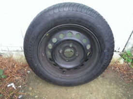 Brand New Tyre 155 70 R13 on Micra wheel