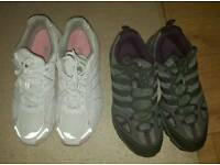 2 pairs of trainers Adidas and Fila size 7 for £23