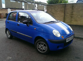 (SOLD) blue Daewoo Matiz, petrol 796CC, 5 gear manual, NEW CAMBELT