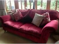 Laura Ashley Large Kingston velvet sofa