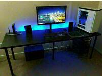 LONG Black Ikea desk 200x60 cm - kitchen / crafts / work table