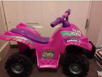 Pink Electric toddler quad
