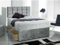 🚚🚛Instant Delivery Bed / Matching Button Headboard Single Double King Superking
