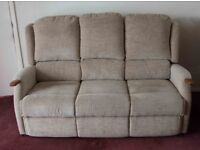 High back sofa with lumbar support.