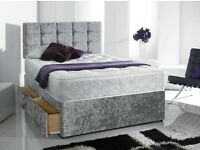 🎈🎈 High Quality Silver Divan on Clearance for limited time 🎊🎈