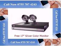 4 CH CCTV CAMERA KIT DVR 500gb - 2 CAMERA'S & 17INCH LCD MONITOR