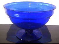 Beautiful blue glass fruit bowl