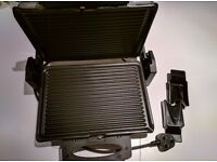 Contact grill with removable plates
