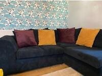 Navy corner sofa & two seater suite