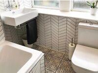 Bathroom - Kitchen - Titling - Plastering - Flooring - Decking - Glass hand banisters