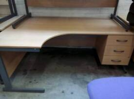 Large selection of office desks currently in stock