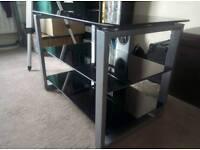 3 shelf glass TV and DVD stand