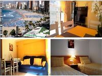 BENIDORM Holiday in Spain 1 line only 30 meters till Levante beach Rincon de loix