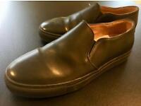 Black Leather slip on shoes size 10.5