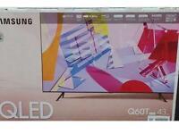 "Samsung 43"" Q60T QLED smart TV brand new sealed ! RRP 599.99"