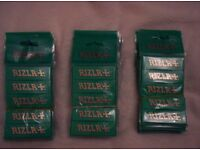 job lot of red and green rizla papers
