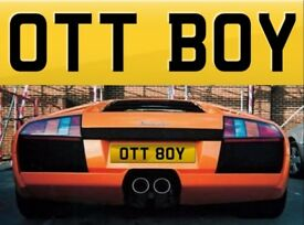 OTT BOY - ( OTT 80Y ) Cherished private personalised registration number plate