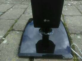 LG speakers TV or steep with wiring one metre tall see pics for condition