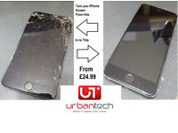 IPHONE 6Plus / 6/ 5s/ 5C /5/4s/4 CRACKED/BROKEN SCREEN REPAIR REPLACEMENT SERVICE FROM £25.00