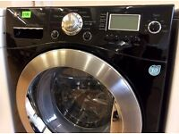LG Direct Drive 9KG Black 1400 STEAM CLEAN Digital Washer + 3 Months Guarantee + FREE LOCAL DELIVERY