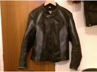 Woman's Motorcycle jacket - Leather - size 12 - Acesport