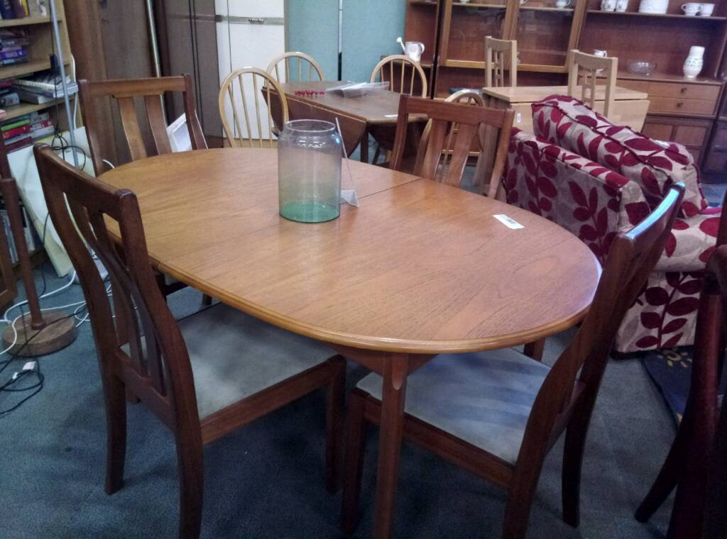 Merdew Teak Dining Table And X 4 Chairs
