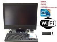 HP EliteOne 800 G1 AIO PC Intel Core i5-4670S @3.10Ghz 4GB RAM 128GB SSD Win 7