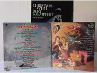 Christmas - 3 LPs - featuring Bert Kaempfert, Geoff Love, Frank Sinatra, Dean Martin and many more