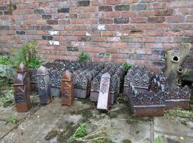 Well over 100 terracotta edgeings