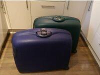 2 x Large Samsonite Combination lock Suitcases
