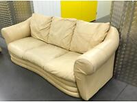 Leather sofa with removal arms, Free delivery