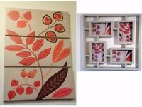 Triptique Leaf picture and matching small picture