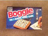 BOGGLE THE 3 MINUTE WORD GAME BY Parker Vintage 1992 Family Dice Game. Complete.