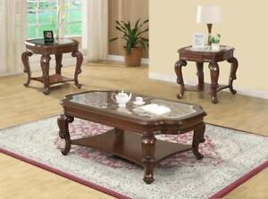 ANCIENT LOOK COFFEE TABLE WITH GLASS TOP | COFFEE TABLES OAKVILLE (BD-335)