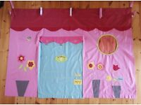 Pink flower shop design bed drape for mid height sleeper