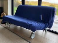 Ikea Double Folding Futon/Sofa/Loft Bed Frame And Mattress