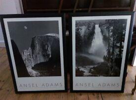 2 x high quality framed Ansel Adams prints 98 x 68cm, ready to hang
