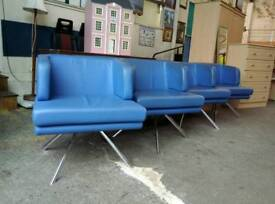 Real leather top quality reception swivel chairs