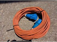 Electric mains cable for camping or motorhome