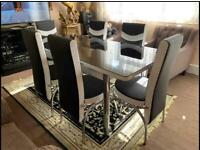New Luxury Style Dining Table And Chairs Set
