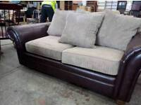 Beautiful Fabric & Leather Sofa