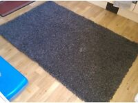Brown shag pile rug