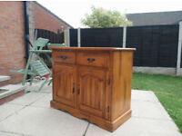solid hardwood sideboard lovely as it is or ideal shabby chic project
