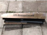 4x 10 FT replacement trampoline poles, proctective tubes & safty clips