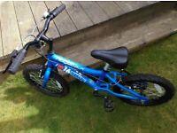 """Boys 16"""" Bike with stabilizers"""