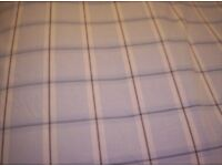 NEW DEBENHAM'S EGYPTIANCOTTON SUPER KING DOVET COVER IN PALE BLUE CHECK