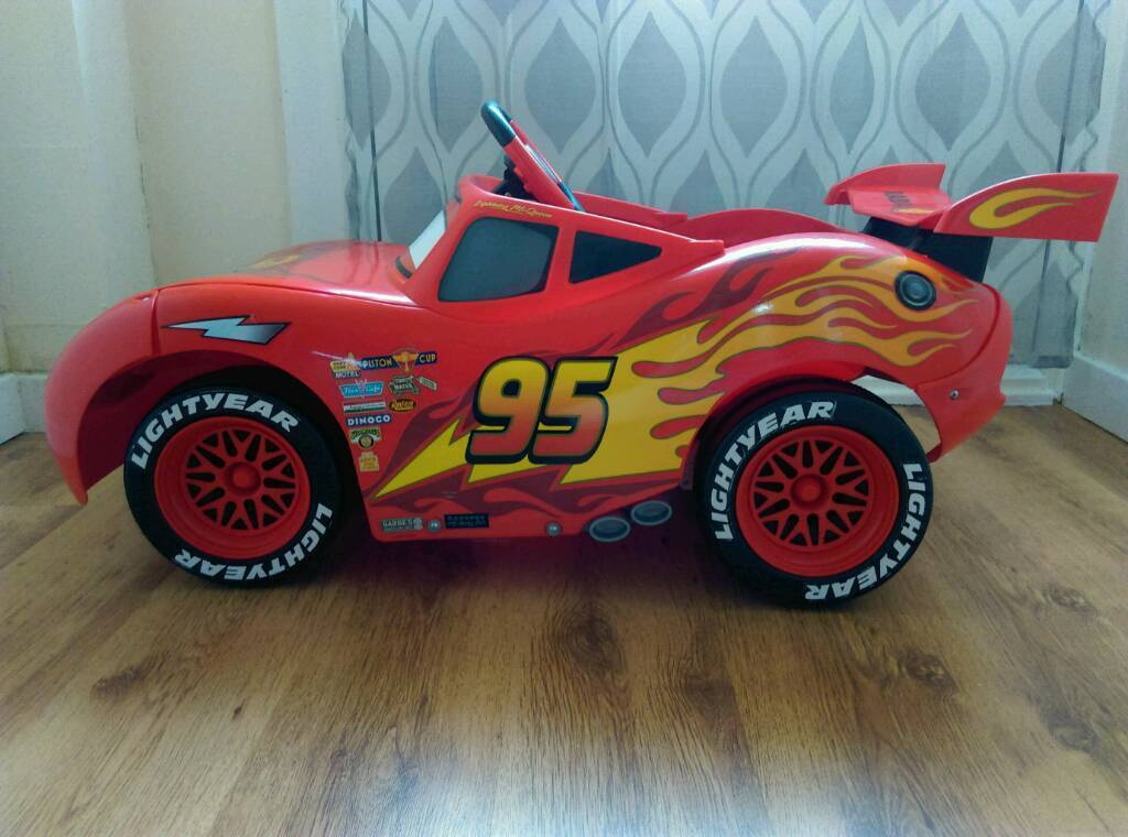 Disney Cars Electric Lightning Mcqueen Ride On Car