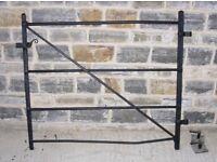 Garden Gate - wrought iron painted black