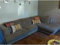 Mink/ natural Next 5 seater corner sofa