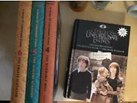 Series of Unfortunate Events 1-6 books for sale  County Londonderry